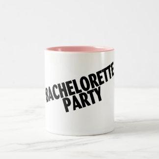 Bachelorette Party (Slanted Black) Coffee Mug