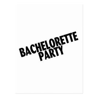 Bachelorette Party (Slanted Black) Postcard