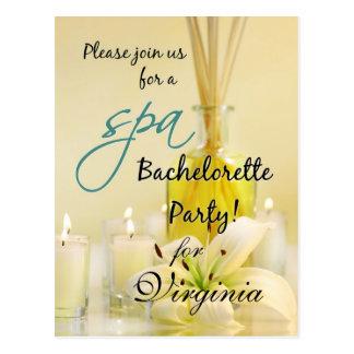 Bachelorette Party Spa Invite - Personalized Postcard