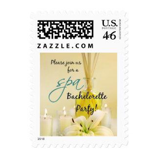 Bachelorette Party Spa Invite Postage Stamp