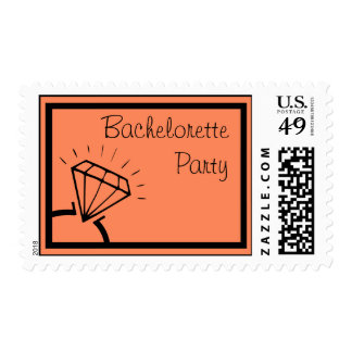 Bachelorette Party Stamps (Diamond Ring Orange)