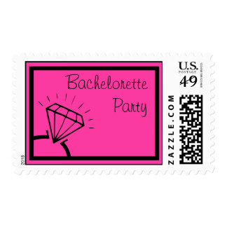 Bachelorette Party Stamps (Diamond Ring Pink)