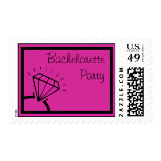 Bachelorette Party Stamps (Diamond Ring Raspberry)