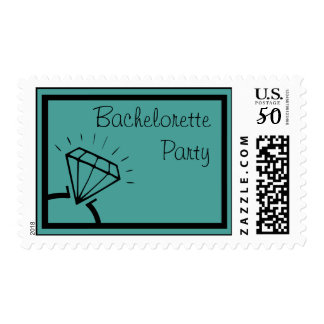 Bachelorette Party Stamps (Diamond Ring Teal)