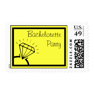 Bachelorette Party Stamps (Diamond Ring Yellow)