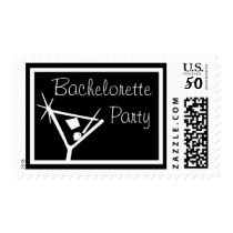 Bachelorette Party Stamps Martini Glass (Black)