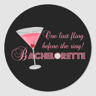 Bachelorette Party Round Stickers