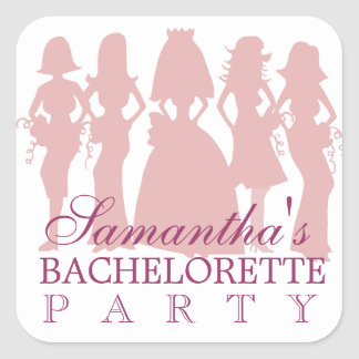 Bachelorette party sticker pink