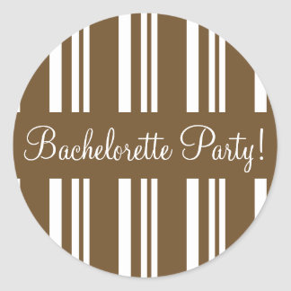 Bachelorette Party Striped Envelope Sticker Seal