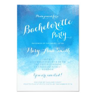 Bachelorette Party Summer Blue Watercolor Card
