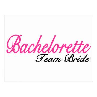Bachelorette Party Team Bride Postcard
