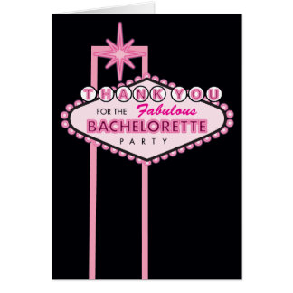 Bachelorette Party Thank You Card - Las Vegas