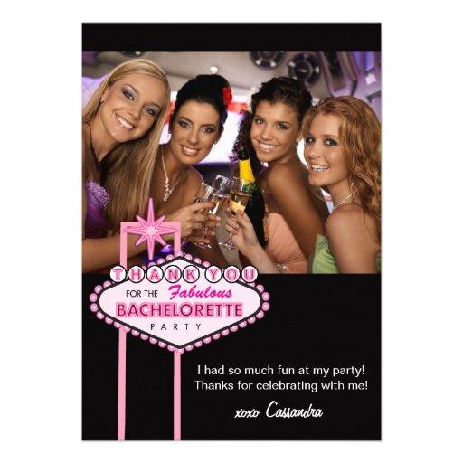 Bachelorette Party Thank You Card Photo - Vegas
