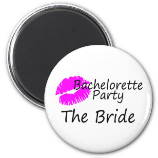 Bachelorette Party The Bride 2 Inch Round Magnet