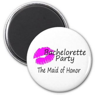 Bachelorette Party The Maid of Honor 2 Inch Round Magnet