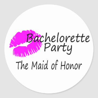 Bachelorette Party The Maid of Honor Sticker