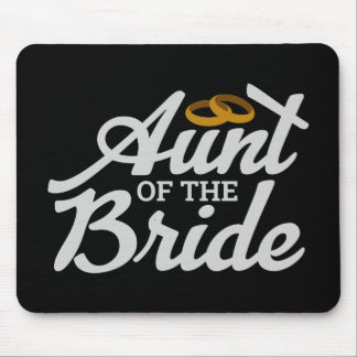 Bachelorette Party Wedding  Aunt of the Bride Ring Mouse Pad