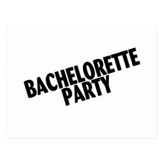 Bachelorette Party Wedding Black Postcard
