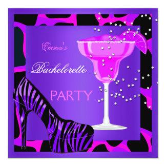 Bachelorette Party Wild Hot Pink Purple Card