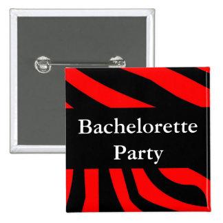 Bachelorette Party Zebra Pinback Button