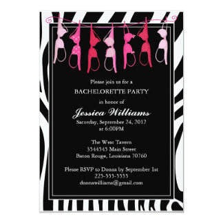Bachelorette Party | Zebra Card