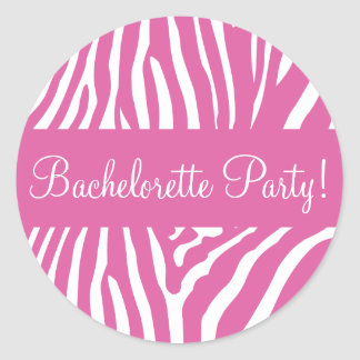 Bachelorette Party Zebra Envelope Sticker Seal