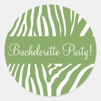 Bachelorette Party Zebra Envelope Sticker Seal
