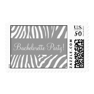 Bachelorette Party Zebra Postage