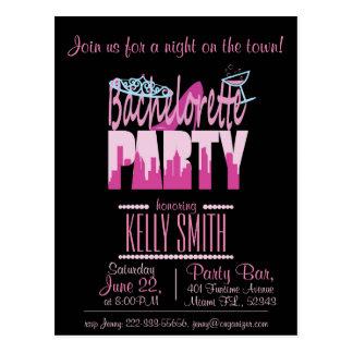Bachelorette partydesign postcard
