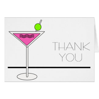 Bachelorette Pink Martini Cocktail Party Card