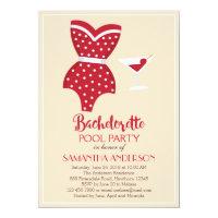Bachelorette Pool Party Invitation, Beach party Invitation