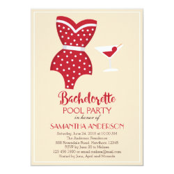 Bachelorette Pool Party Invitation, Beach party Invitation