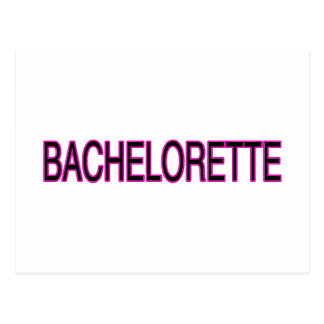 Bachelorette Postcard