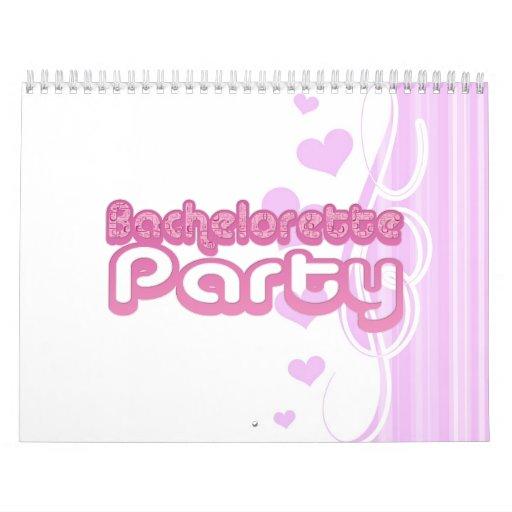 bachelorette púrpura rosado que casa la diversión  calendario