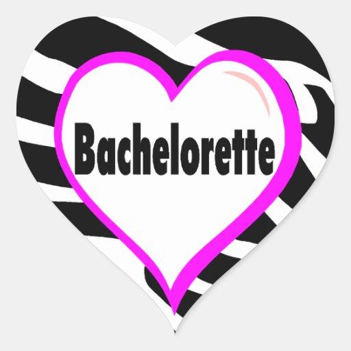 Bachelorette (rayas de la cebra del corazón) pegatinas corazon