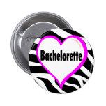 Bachelorette (rayas de la cebra del corazón) pin