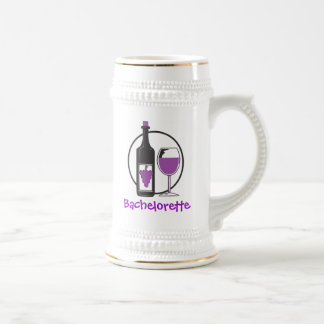 Bachelorette Red wine Party Beer Stein