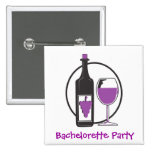 Bachelorette Red wine Party Pin