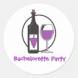 Bachelorette Red wine Party Sticker