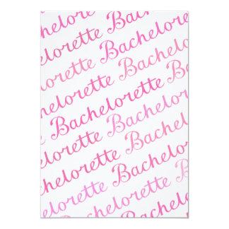 Bachelorette Script Diagonal Repeat Pattern Pinks Card
