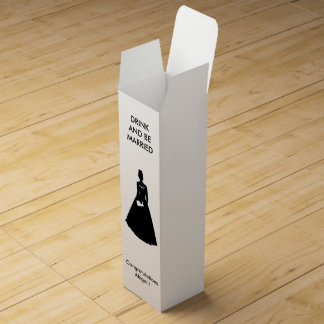 Bachelorette Silhouette Wine Gift Box