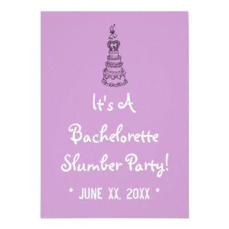 bachelorette slumber party invitations  announcements  zazzle, Party invitations