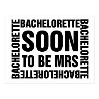 Bachelorette soon to be mrs postcard