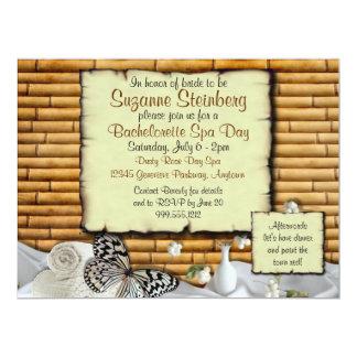 Bachelorette Spa Day Custom Invitations