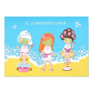 Bachelorette Spa Party Card