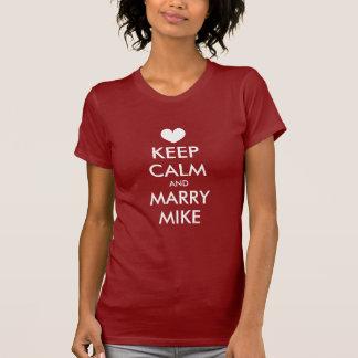 Bachelorette t shirts with keep calm theme