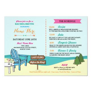 Bachelorette The Lakes Bridal Invite Itinerary