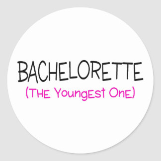 Bachelorette The Youngest One Classic Round Sticker