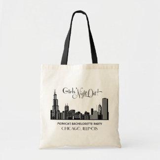 Bachelorette Tote Bags | Chicago Skyline