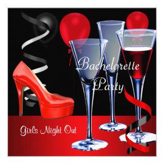 Bachelorette va de fiesta el vino rojo de los talo invitación personalizada